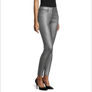 A.N.A Silver Metallic Skinny Jeans Size 16